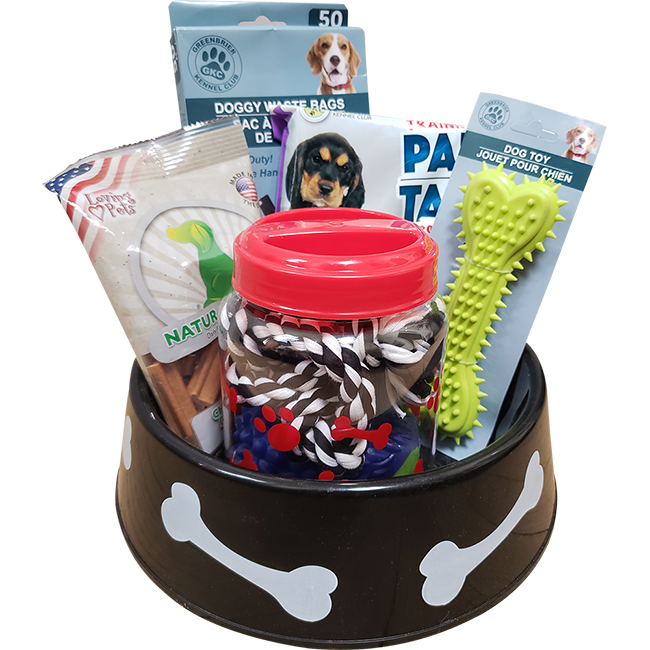 Perfect for Puppy Dog Gift Basket