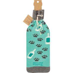Bottle Sock - Dogs & Wine