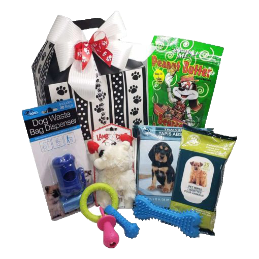 New Puppy Dog Gift Basket - Paws Place
